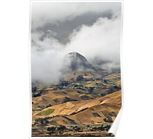 Andes on a cloudy day Poster