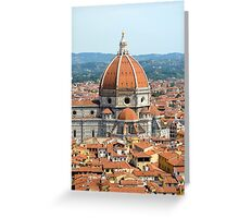 Approaching Il Duomo Greeting Card