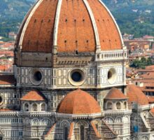 Approaching Il Duomo Sticker