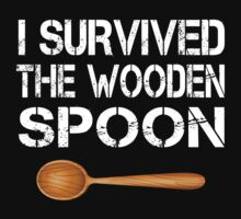 I Survived The Wooden Spoon Funny Birthday Wooden Spoon Survivor Gift by onlybuddy