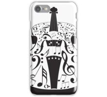 Perspective Violin with Notes iPhone Case/Skin