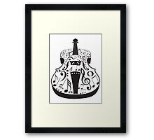 Perspective Violin with Notes Framed Print