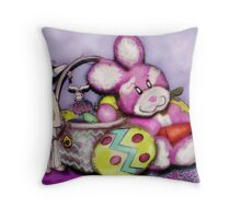 HaPpy  HaPpy EAsTeR !  Throw Pillow