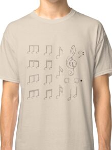 Music Notes2 Classic T-Shirt