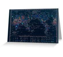 Atlas zu Alex V Humbolt's Cosmos 1851 0148 Earth Geological Map Inverted Greeting Card