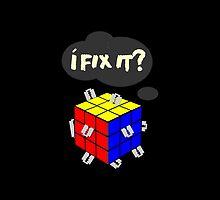 Rubik's Cube with razor blades! I fix it? Blood. by Desenatorul1976