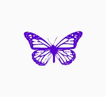 Purple Butterfly - Vector Art Unisex T-Shirt