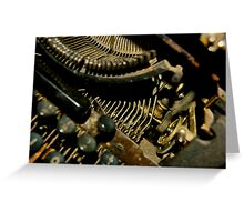 Typewritter, Buenos Aires, Argentina Greeting Card