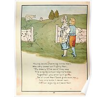 The Glad Year Round for Boys and Girls by Almira George Plympton and Kate Greenaway 1882 0048 Young Jacob Charming Poster