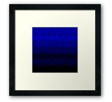Deep Blue Crashed Stone Framed Print