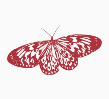 Red Butterfly - Vector Art by bradyarnold