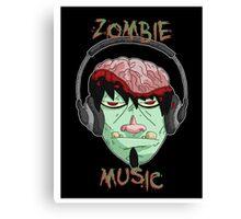 zombie music 8 print... Canvas Print