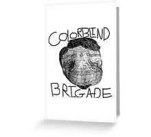 Colorblind Brigade Shirt Greeting Card