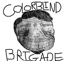 Colorblind Brigade Shirt Photographic Print