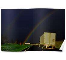 Highway Rainbow in Roy G Biv Poster