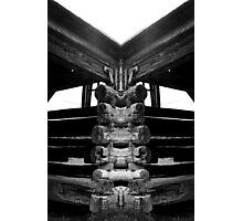 Old barn Mirrored Photographic Print