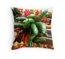 Rainbow of Spice Throw Pillow