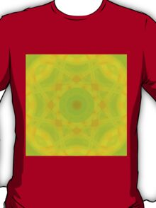 Green-Orange Mandala-Fleur  T-Shirt