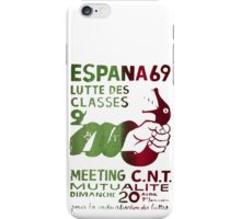 Class Struggle French Protest Poster iPhone Case/Skin