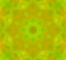 Green-Orange Mandala Star by FireFairy