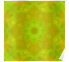 Green-Orange Mandala Star Poster