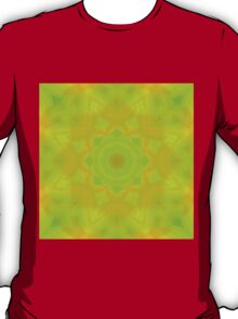 Green-Orange Mandala Star T-Shirt
