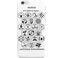 Ingress Achievements Black iPhone Case/Skin