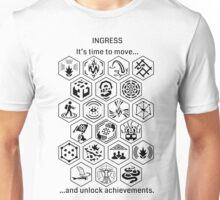 Ingress Achievements Black Unisex T-Shirt