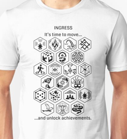 Ingress Achievements Black Unisex T-Shirt