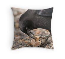World's Most Intelligent Bird Shows Her Stuff Throw Pillow