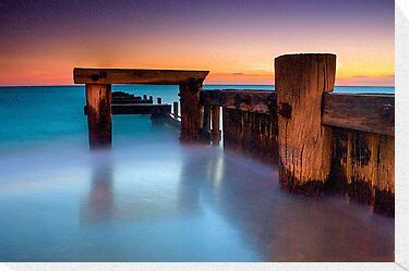 Dusk at Mentone Pier #4 by Jason Green