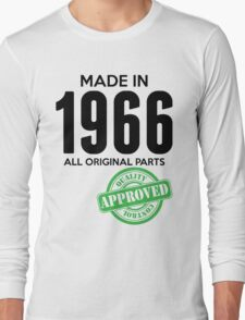 Made In 1966 All Original Parts - Quality Control Approved Long Sleeve T-Shirt