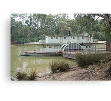 Magestic Paddle Steamer on the River Murray, Echuca, Vic Canvas Print