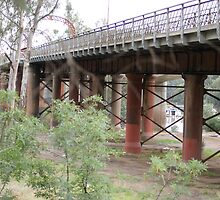 Bridge over the Murray River, Echuca.  by pitspics