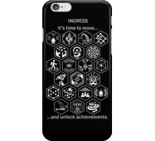 Ingress Achievements White iPhone Case/Skin