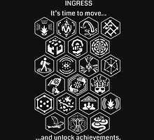 Ingress Achievements White Unisex T-Shirt