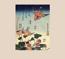 'Wild Strawberries and Birds' by Katsushika Hokusai (Reproduction)  T-Shirt