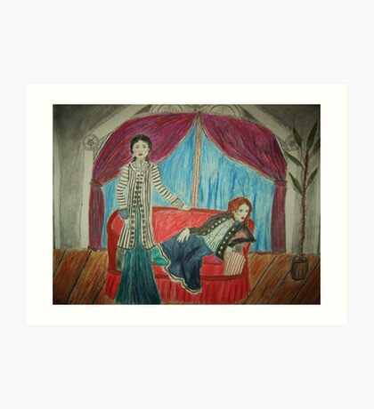 Two Actors On Stage Art Print