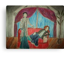 Two Actors On Stage Canvas Print