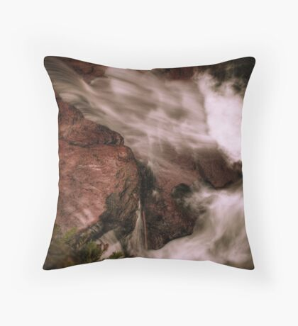 Water Chute (below Adams Falls) Throw Pillow