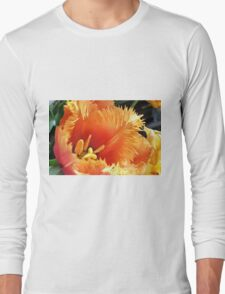 Tulip With A Fringe On Top Long Sleeve T-Shirt
