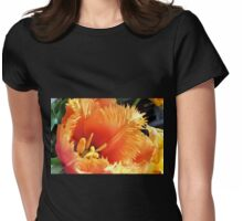 Tulip With A Fringe On Top Womens Fitted T-Shirt