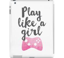 Play Like a Girl iPad Case/Skin