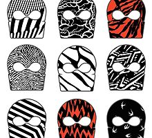 Blurryface cover art masks by featherarrowss