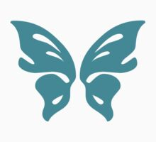 Turquoise Butterfly - Vector Art by bradyarnold