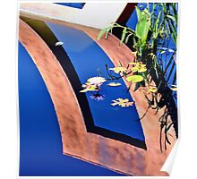 Water Lily Reflection Pool Poster