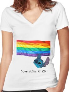 6.26 Love Wins Women's Fitted V-Neck T-Shirt