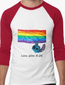 6.26 Love Wins Men's Baseball ¾ T-Shirt