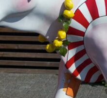 Painted Cow on Holiday - at Floriade Sticker