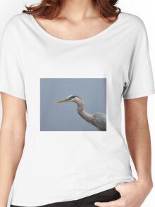 Grey Heron Head Shot Women's Relaxed Fit T-Shirt